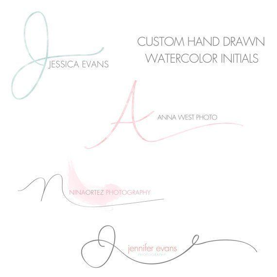 Photo of Custom hand written initials logo – custom logo design – OOAK logo