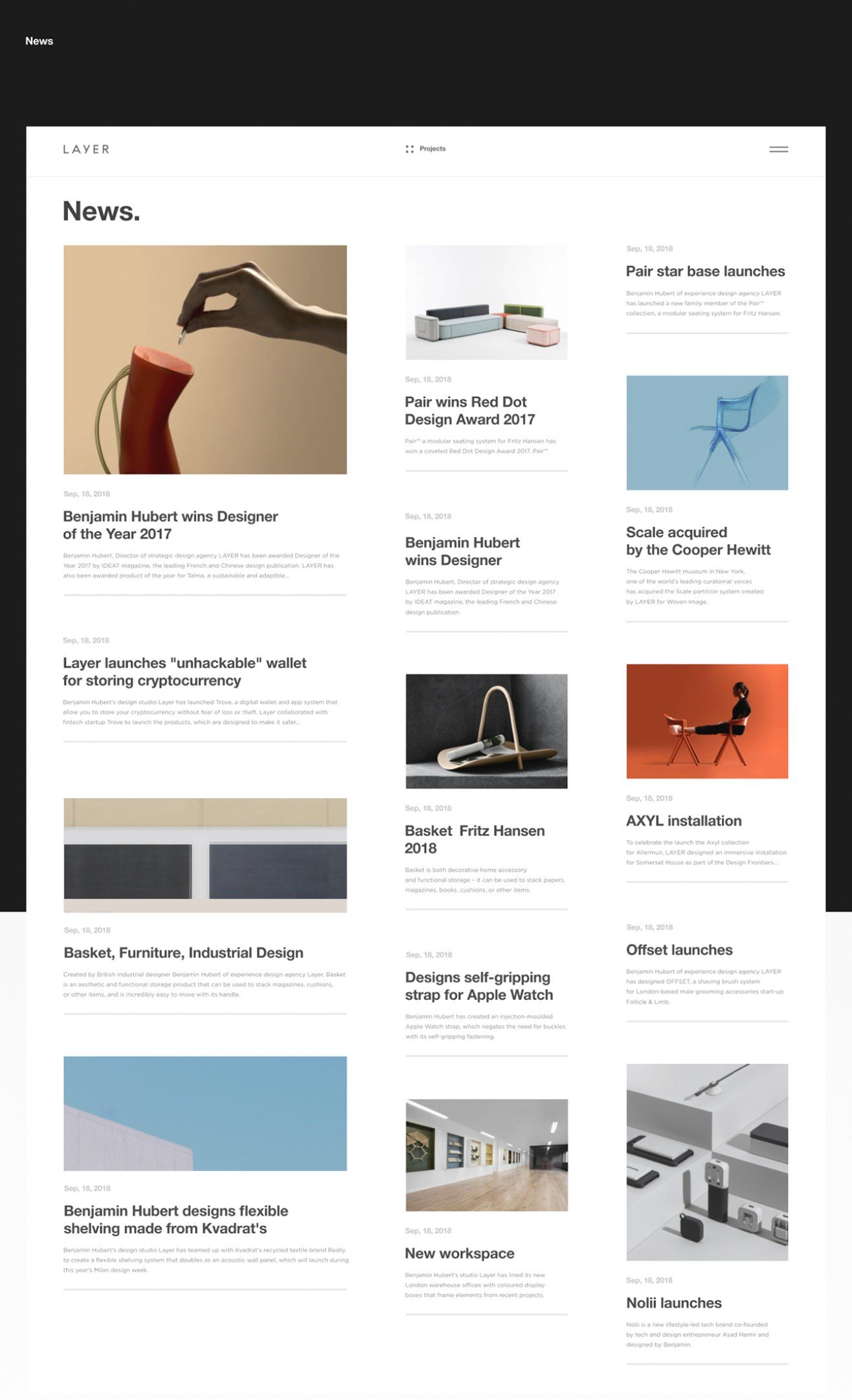 Layer Website Redesign On Behance In 2020 Simple Web Design Magazine Website Design Website Redesign