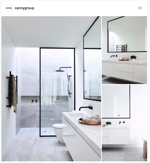 Bathroom! All white with accents