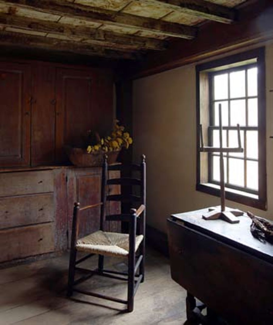 William Haskell House, 1652 93, A First Period Colonial American House In  Gloucester, Massachusetts, The Parlor.