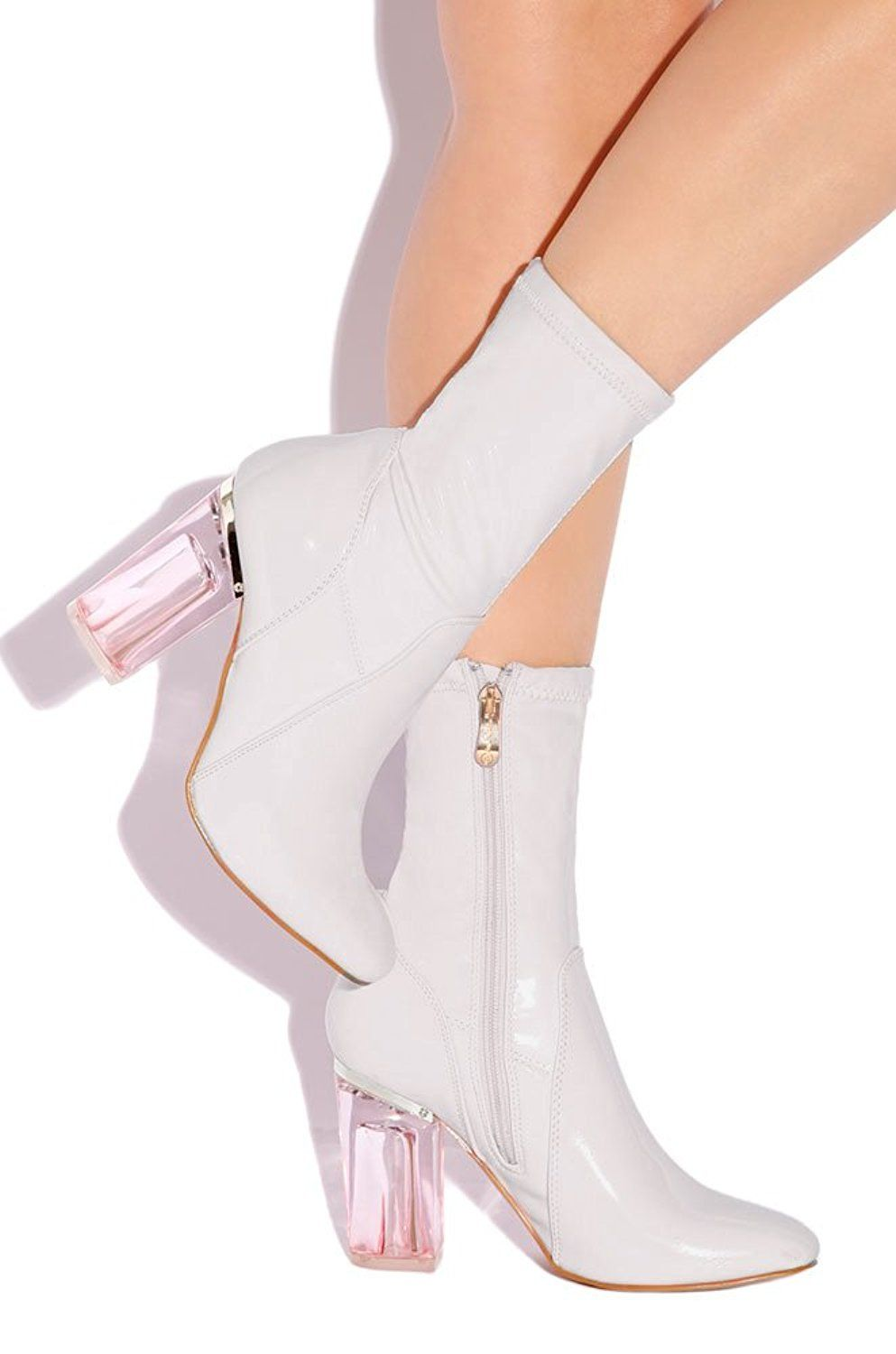 TAMMYS Exclusive No frontin Glass Heel Stretch Ankle Boot