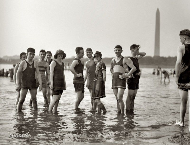 49dbefb382 1920s Swimsuits- Women and Men (Parasols too) | 1920s Style Guide ...