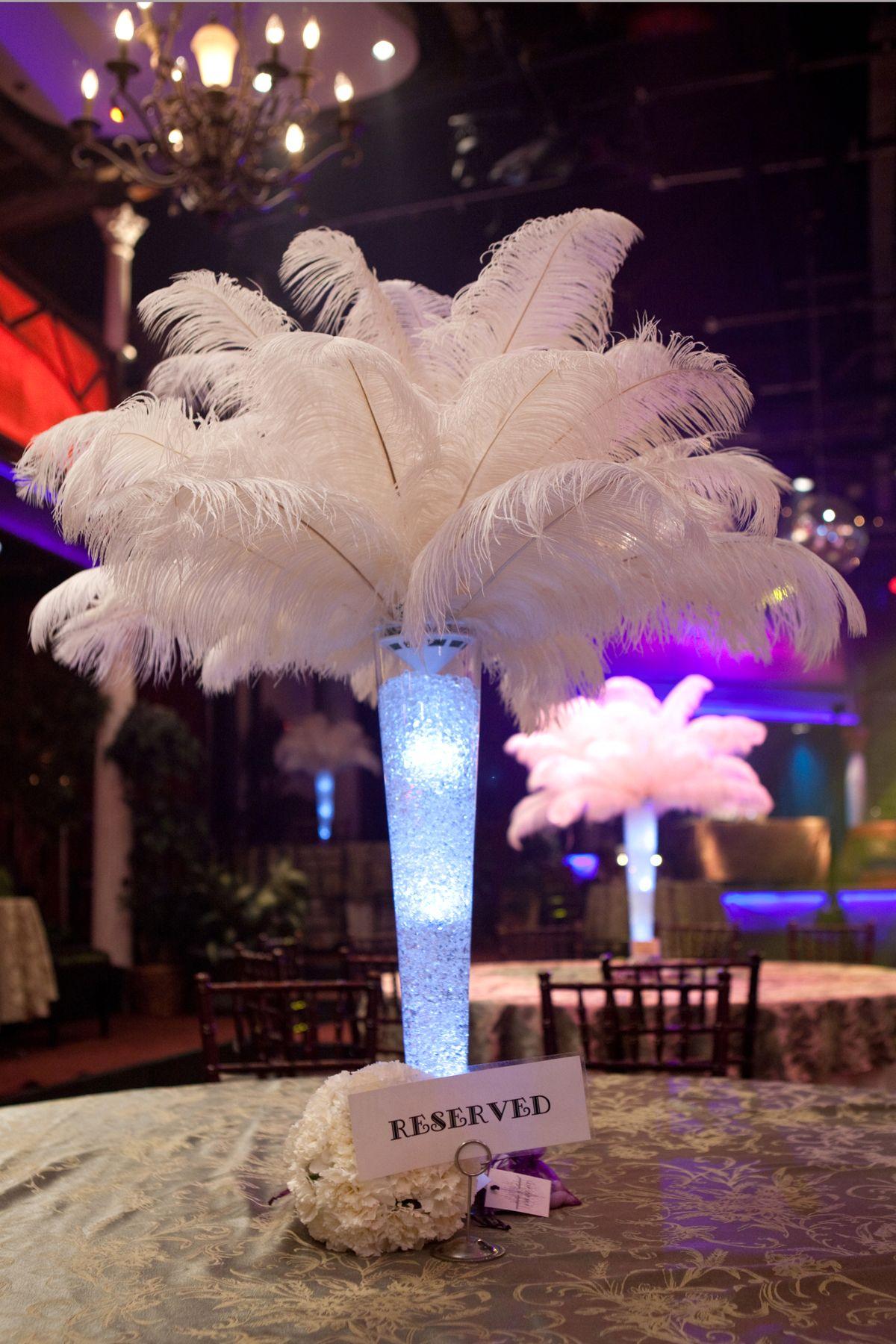 Ostrich feather centerpiece feather centerpiece lighted vase ostrich feather centerpiece feather centerpiece lighted vase varsity theatre reviewsmspy