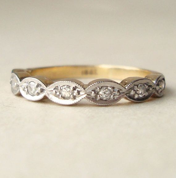 Scalloped Wedding Band Antique Engagement Rings Wedding Bands Wedding Rings Engagement