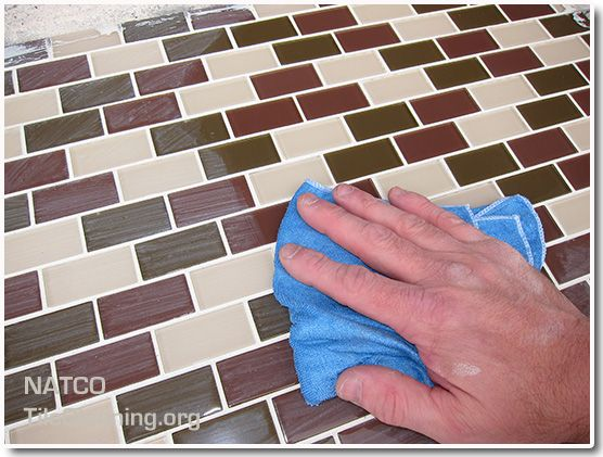 Cleaning Grout Dye Haze Off Of Glass Mosaic Tiles Grout Cleaner