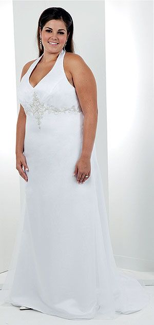 simple plus size wedding dresses for second wedding | plus size ...