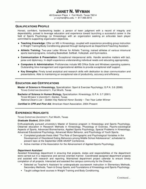 Biology Resume Template Example Of Objective In Resume For Sales Lady  Resume  Pinterest