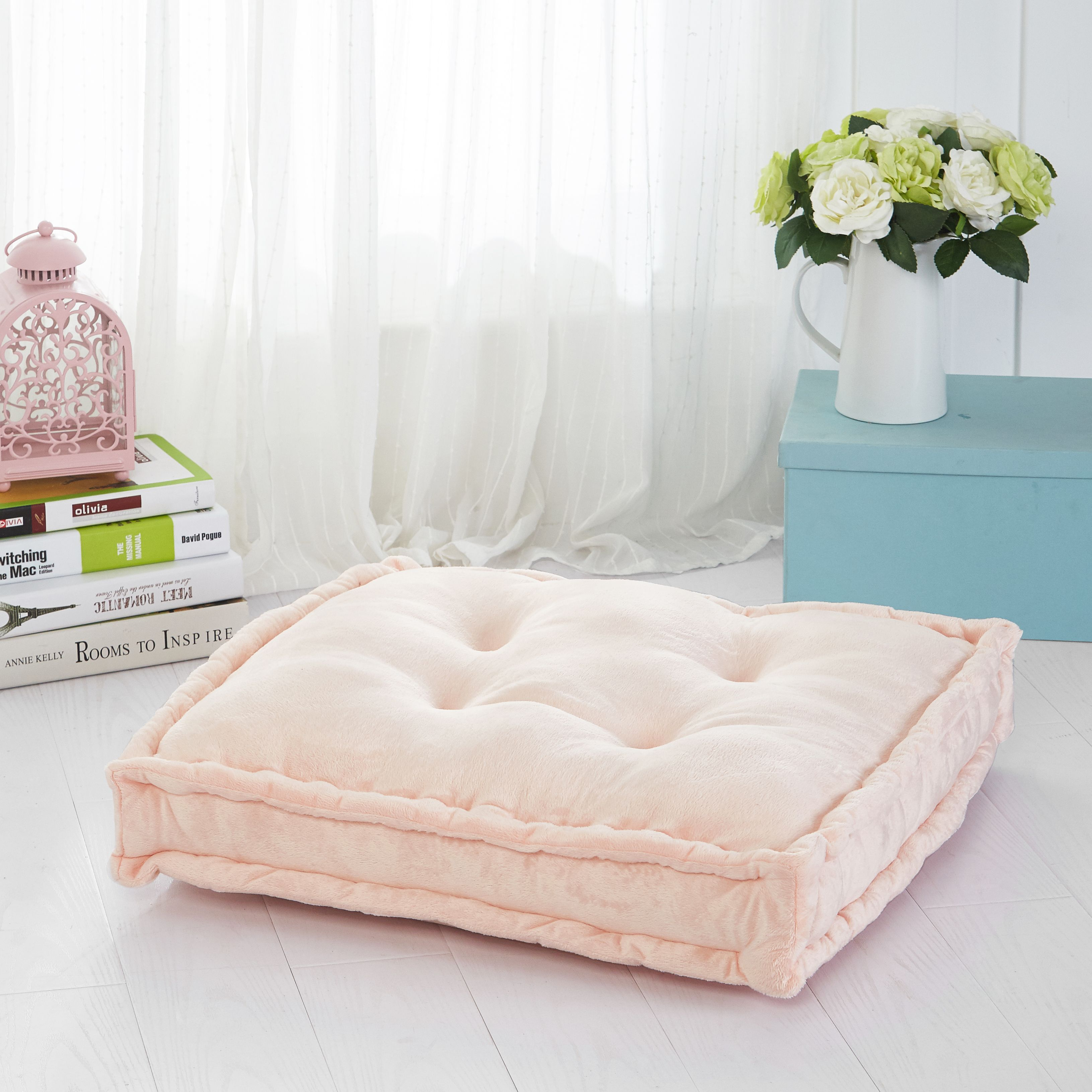 Mainstays Tufted Floor Pillow, Blush | Floor pillows, Walmart and ...