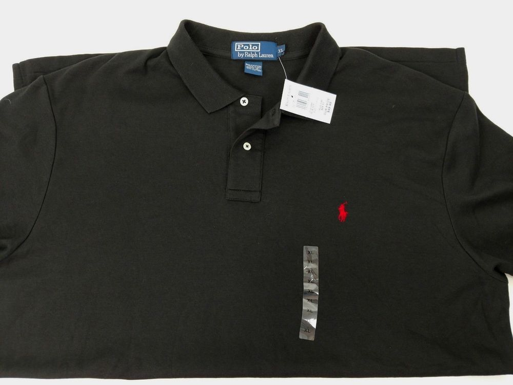 Polo Ralph Lauren Men's XL Black Polo Shirt Red Pony New with Tags ...