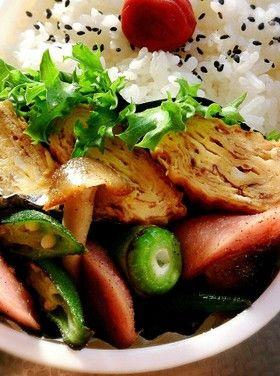 魚肉ソーセージとオクラでお弁当のおかず☆