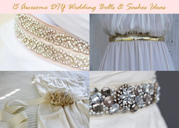 Here Are Some Of The Best Diy Examples To Make Your Own Wedding Belts Sashes