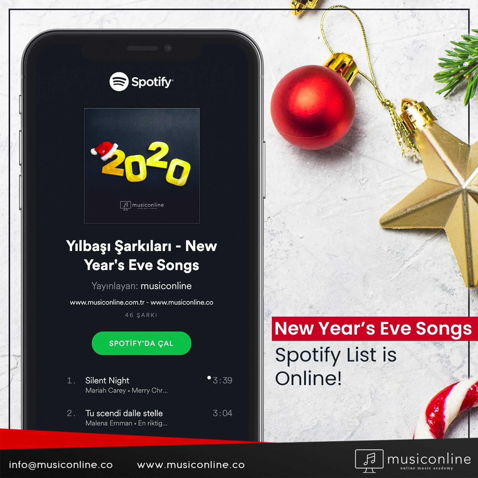 Our spotify list of 'Songs for New Year's Eve', which you