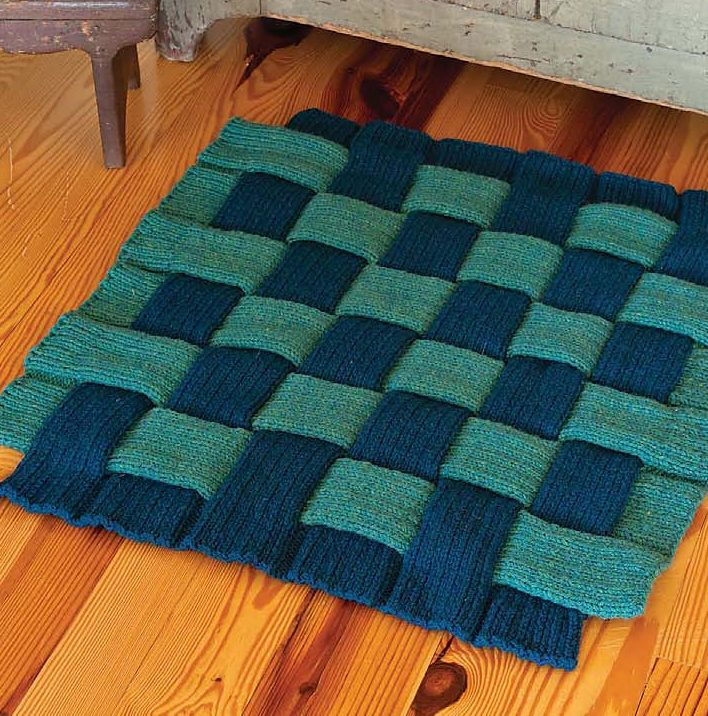 Knitting Pattern For Woven Puzzle Rug One Of The Patterns In