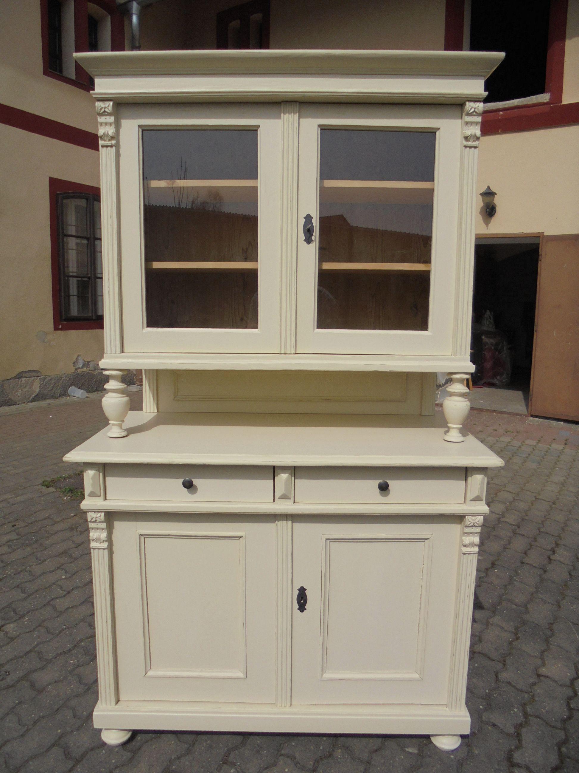 Kredenz Weiss Landhausmöbel 2 Diy Kitchen Cabinets Build Shabby Chic Kitchen Modern Cabinets