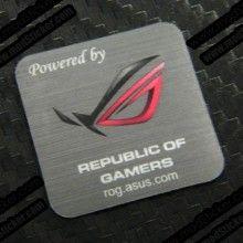 Powered by Republic of Gamers ASUS ROG Logo Sticker - modSticker.com