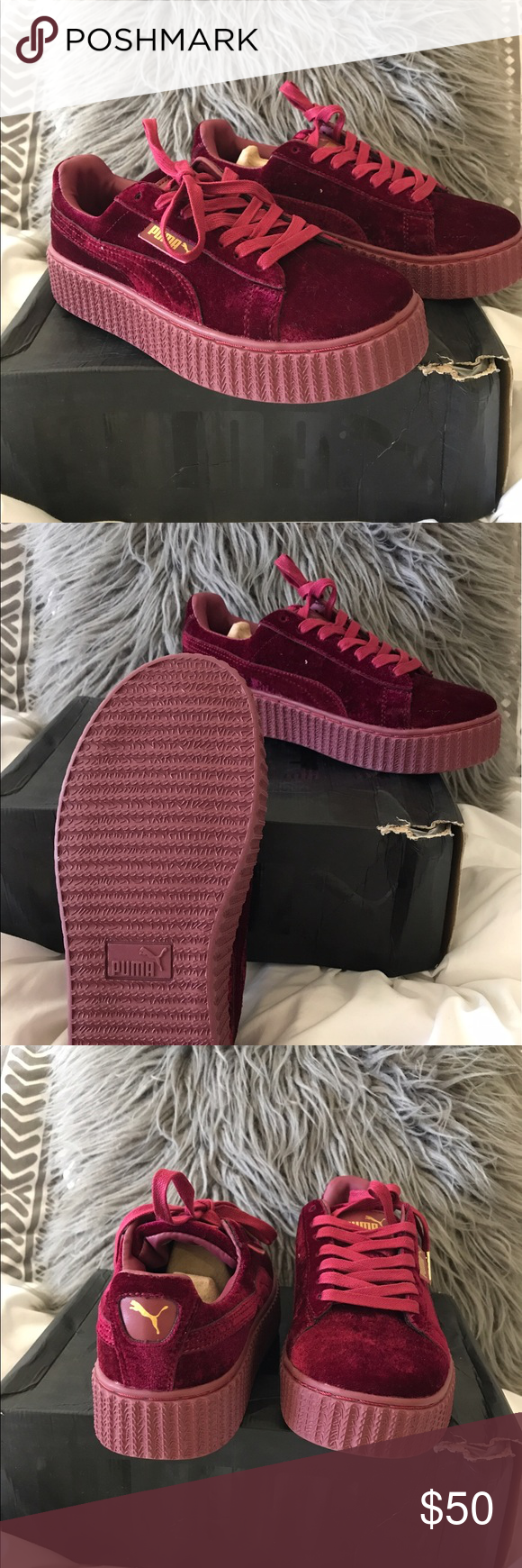 sale retailer 607bb b1b31 Fenty Puma Creepers Not authentic. Brand new/Never worn look ...
