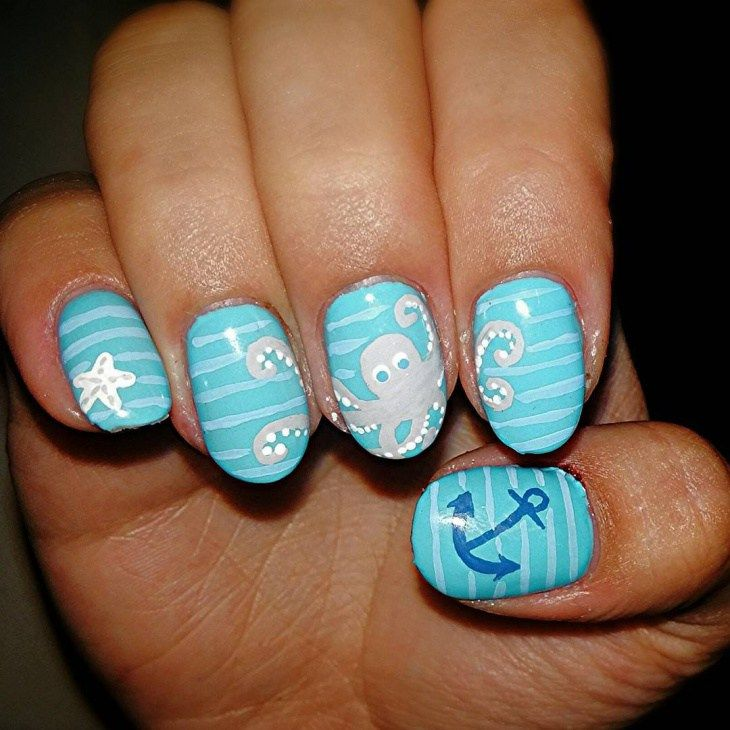 Best Starfish French Nail Design 2018 | Love those Nails | Pinterest ...