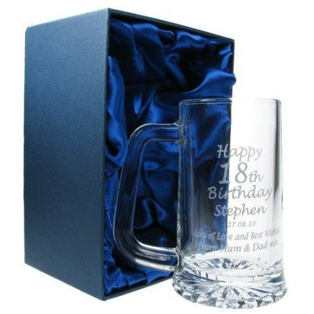 Glass Tankard Gift Silk Lined Presentation Box for a Pint Tankard