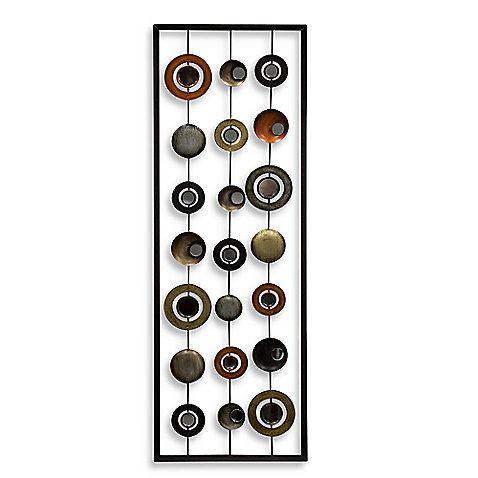 Metal Mirror Wall Decor In Circle Panel Ii Mirror Wall Decor