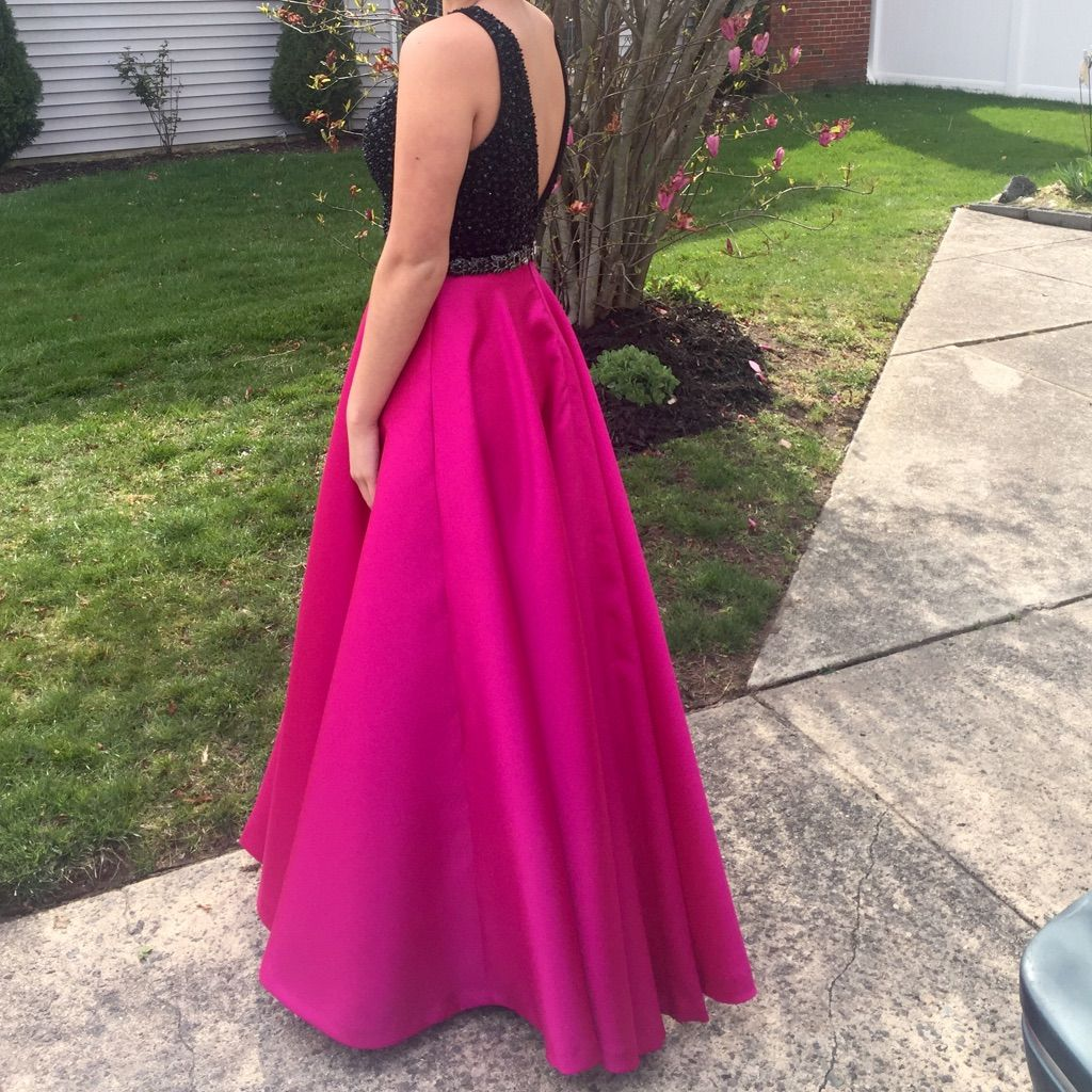 Jovani pink and black sequin prom dress dresses r glurios