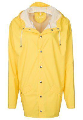 Rains - yellow raincoat.