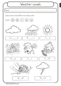 weather vowels weather worksheets