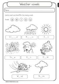weather vowels learn weather pinterest weather worksheets worksheets and english. Black Bedroom Furniture Sets. Home Design Ideas