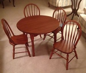 Brand New Beautiful Amish Crafted Solid Oak Children S Kids Table Chairs Set Ebay Kids Table Chair Set Amish Crafts Solid Oak