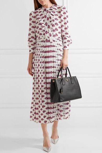 3927e37c053b PRADA classy Galleria large textured-leather tote in 2019 | PRADA ...