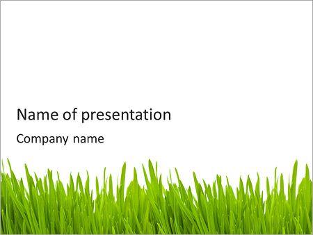 grass theme powerpoint green grass powerpoint template backgrounds id 0000003895 ideas