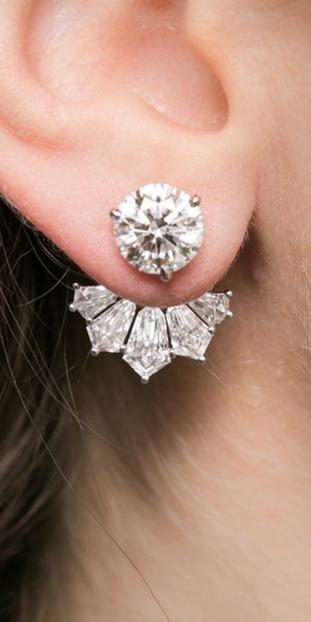 Rahaminov Diamonds Round Diamond Studs Which Are Also Diamond Jacket Earrings Wit Diamond Jewelry Designs Unique Diamond Earrings Diamond Earrings Studs Round