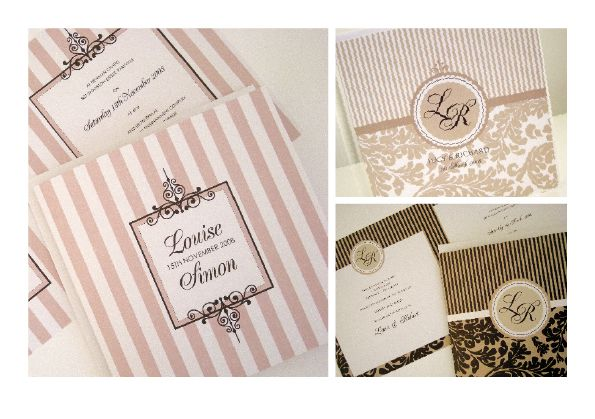 invites- hollywood glam, but black and white
