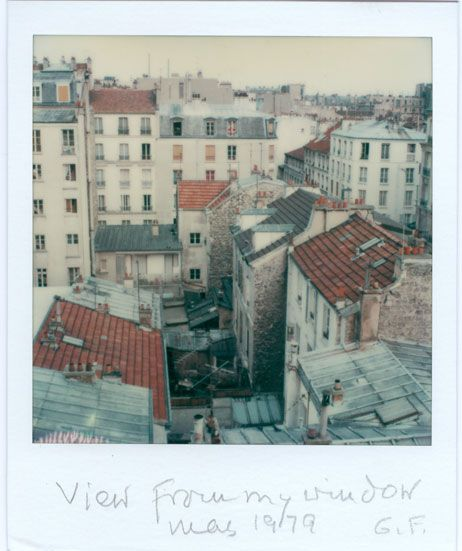 """Gisèle Freund: """"View from my window"""", 1979   #polaroids #pola #nrwforum """"The Polaroid Collection"""" MAY 26, 2012 - AUGUST 05, 2012 NRW-Forum Duesseldorf Germany"""