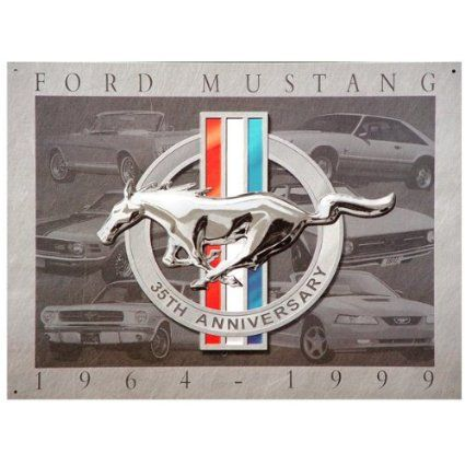 retro Ford Mustang Pennant or Keychain silver tone secret bottle opener