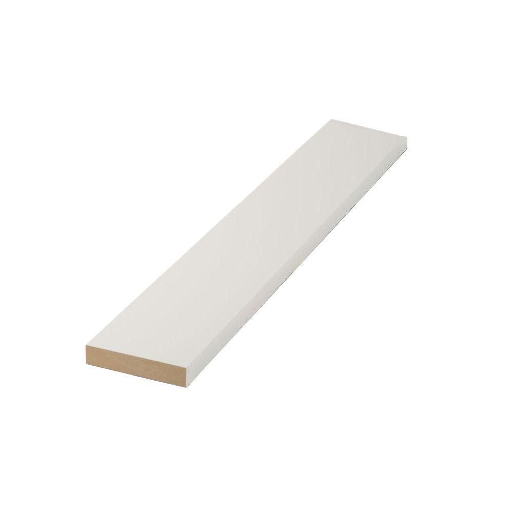 Finished Elegance 1 in. x 4 in. x 8 ft. MDF Moulding Board ...