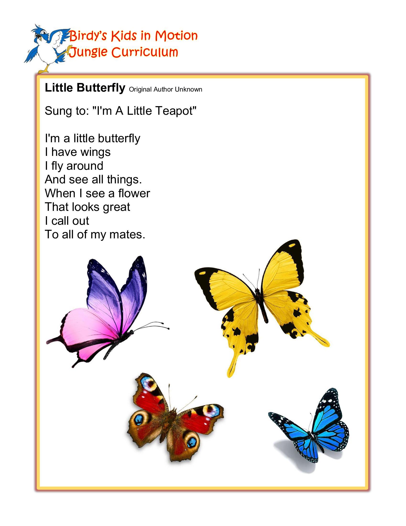 Preschool Butterfly Songs : preschool, butterfly, songs, Little, Butterfly, #BirdysKids, #ToddlerCreativeMovement, Songs,, Jungle, Theme,, Childhood, Education
