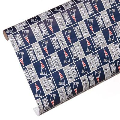 b8bb2d5be61 New England Patriots Spirit Block Wrapping Paper