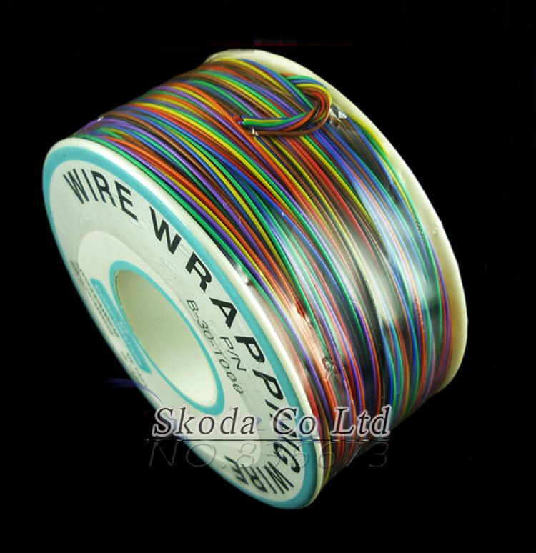 Free shipping Newest 8 color Wrapping Wire 300 Meters AWG30 Cable ok ...