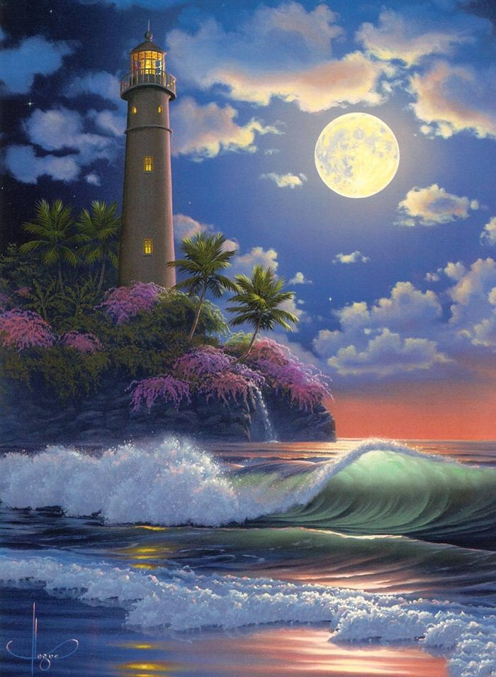 Al Hogue With Images Lighthouse Painting Lighthouse Art Art