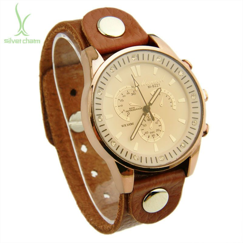 0746670bb99 Aliexpress.com   Buy Venda Hot Vintage Top Layer couro marrom Strap Watch  analógico Quartz Unisex três Dial relógio de pulso mulheres e homens PI0535  from ...