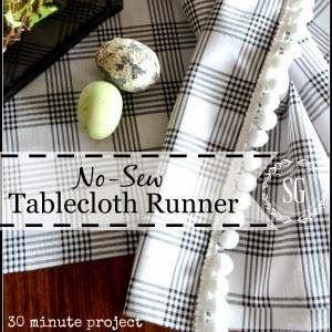 Photo of Simple no-sew fabric wreath