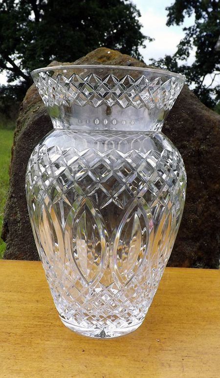Rp Irish Rose Lead Crystal Vase Ebay Cut Crystal And Glass