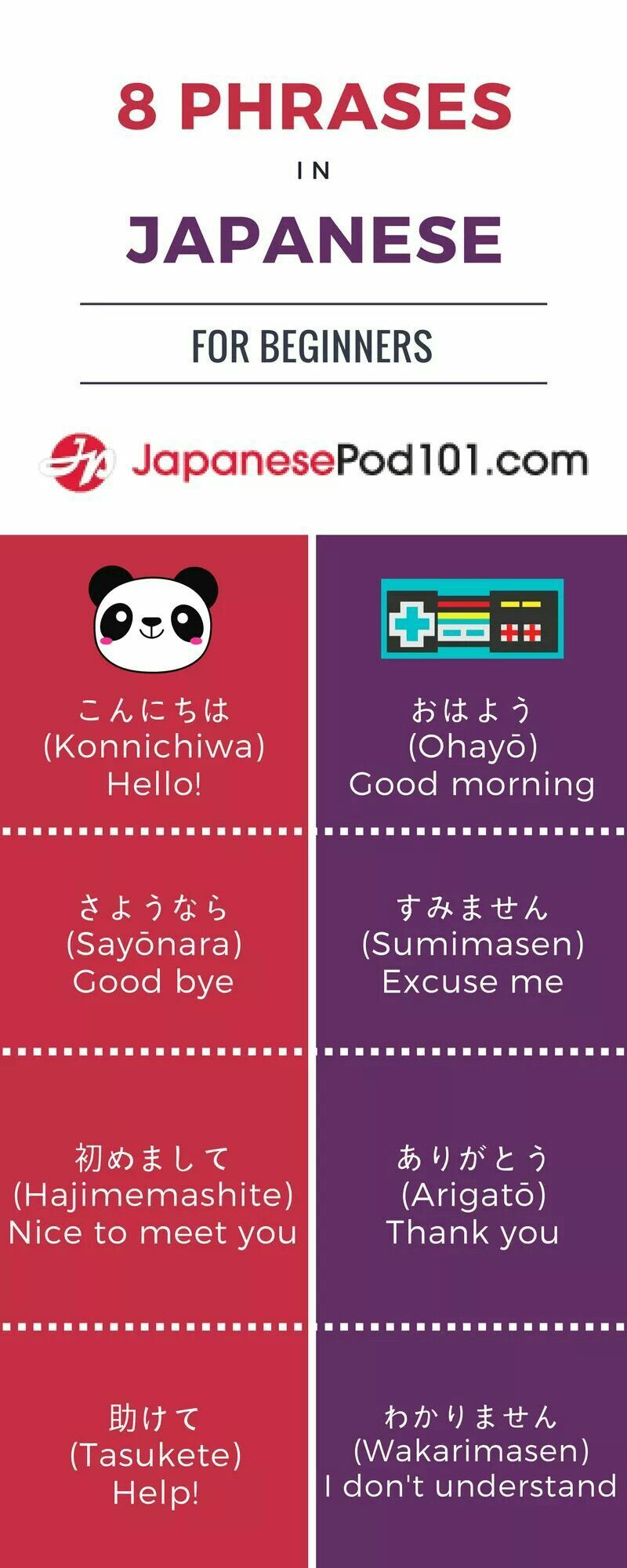 8 Japanese Phrases For Beginners From Japanesepod101 Japaneselanguage Japanese Phrases Japanese Words Japanese Language Learning