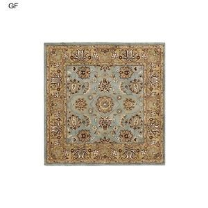Blue Handmade Woolen Rug An Intricate Oriental Design And Dense Thick Pile This Floor Rug Has A Blue Background And A Go Wool Area Rugs Rugs Carpet Handmade