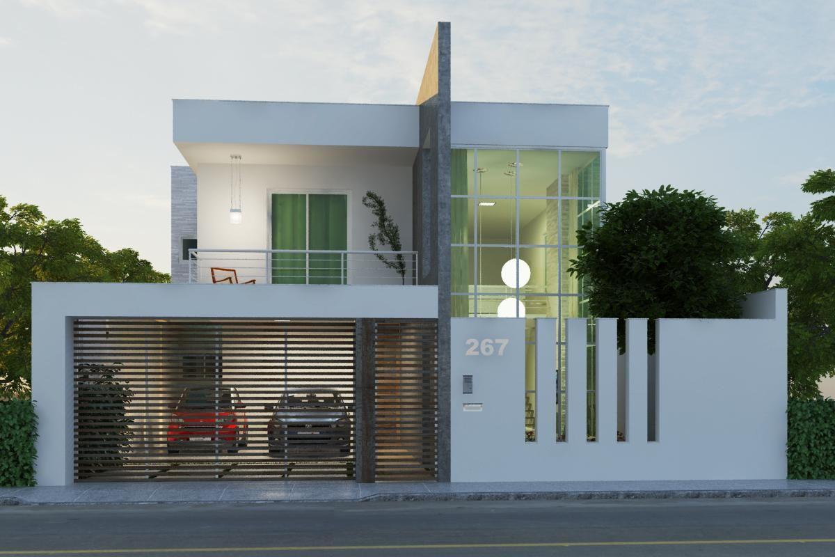 60 modelos de muros residenciais fotos e dicas - Muro exterior casa ...
