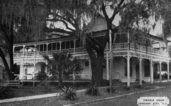Florida Memory Sprague House Crescent City Florida Vintage