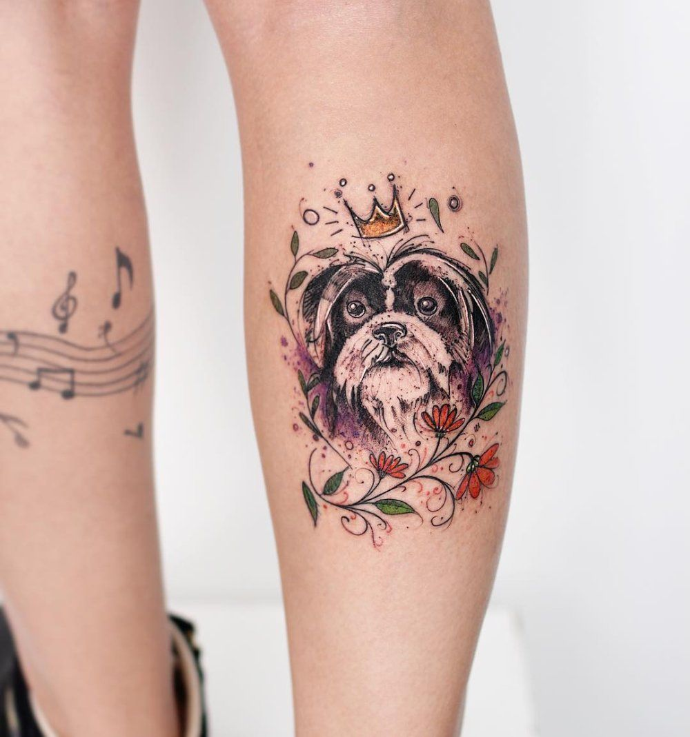 Illustrative tattoos mit ganz viel herz tattoo