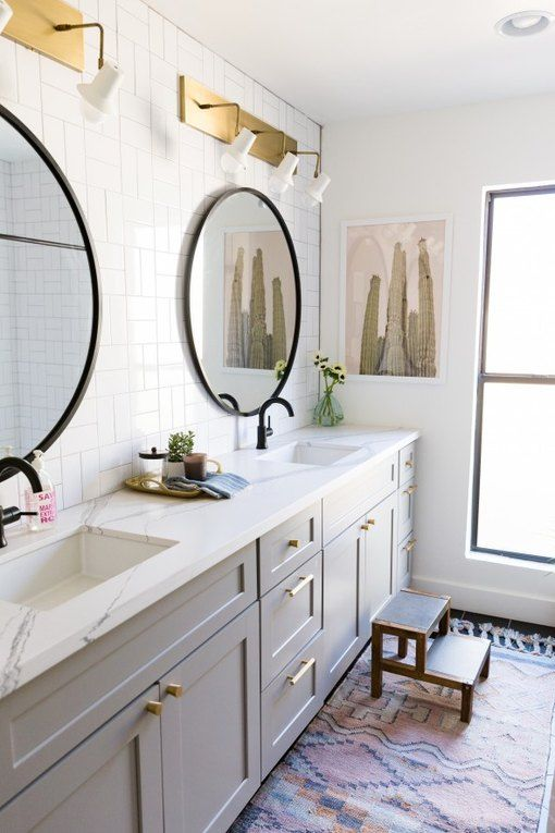 12 Bathrooms With Gray Cabinets That Will Melt Your Stress Away | Hunker