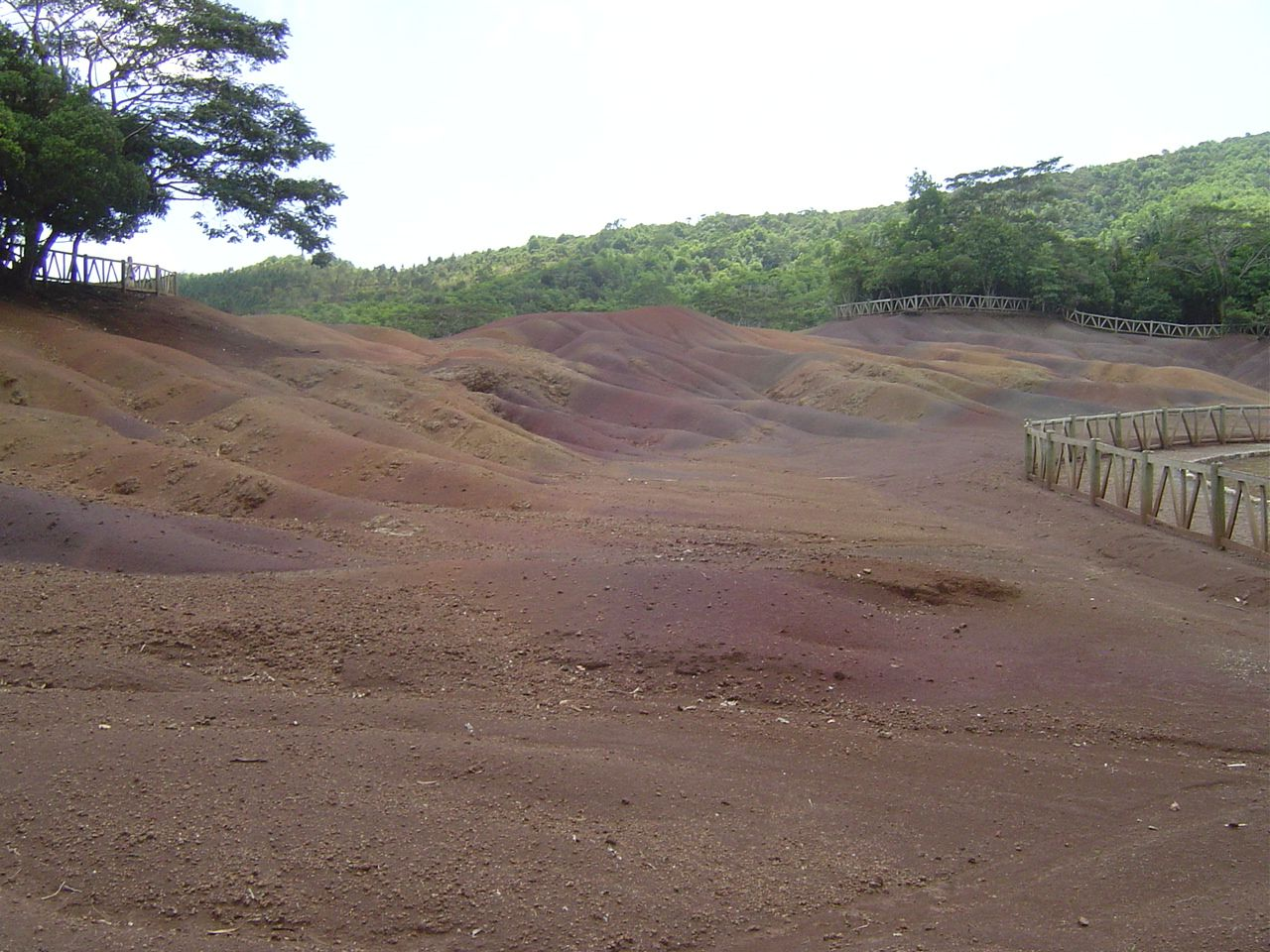 Famous seven coloured sands - the Chamarel