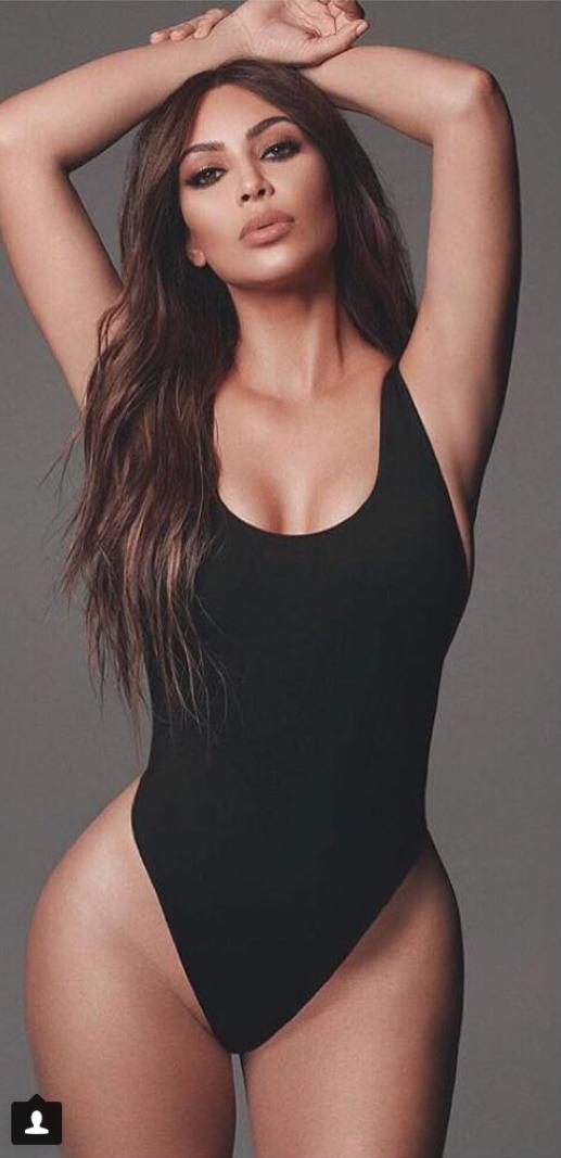 92b485c1c2 Who made Kim Kardashian's black swimwear? | Kim Kardashian style ...